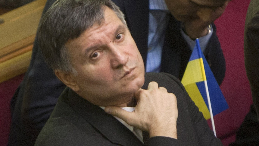 Newly elected interior minister Arsen Avakov attends a session of the Ukrainian parliament in Kiev