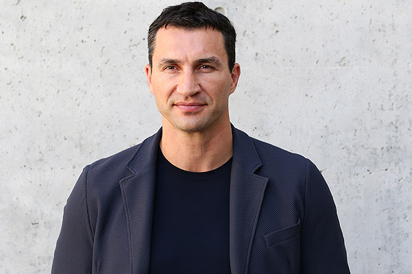 MILAN, ITALY - JUNE 25:  Wladimir Klitschko attends the Giorgio Armani show during Milan Menswear Fashion Week Spring Summer 2014 on June 25, 2013 in Milan, Italy.  (Photo by Vittorio Zunino Celotto/Getty Images)