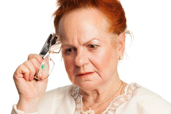 Senior woman forgot something very important