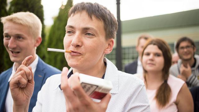 савченко із сигарою